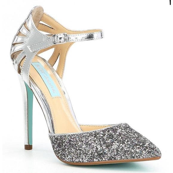 Blue By Betsy Johnson Blush Avery Heeled Wedding Shoes - Blush Blue by Betsey Johnson 3fflOE5L7C